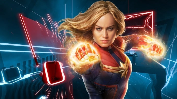 Captain-Marvel-Brie-Larson-Beat-Saber