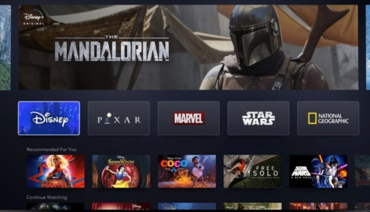 Disney Unveils First Look at Disney+ Interface