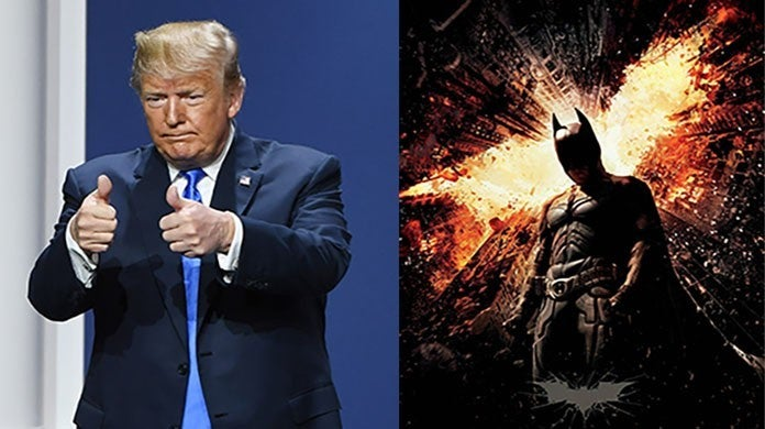 donald trump the dark knight rises