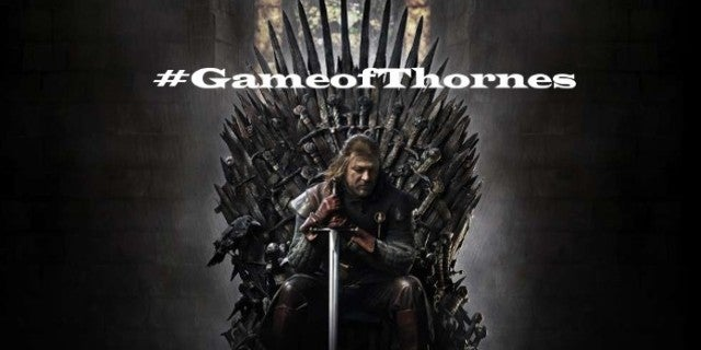 Game of Thrones Hashtag Misspelled Game of Thornes