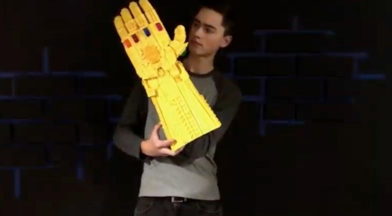 Avengers Fan Builds Wearable Infinity Gauntlet Out Of LEGO
