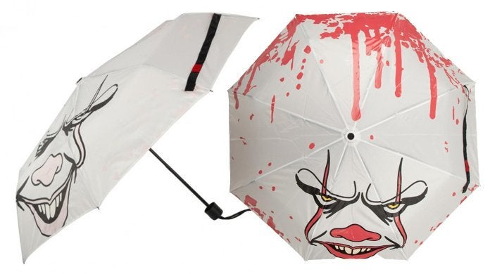 The Official 'IT' Pennywise Umbrella Gets Bloody in the Rain