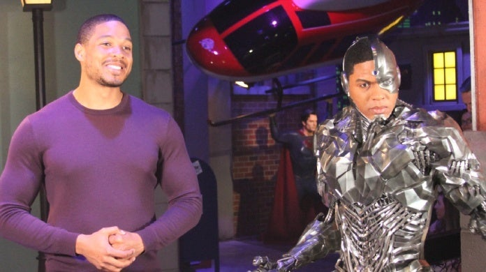 justice league ray fisher cyborg wax figure