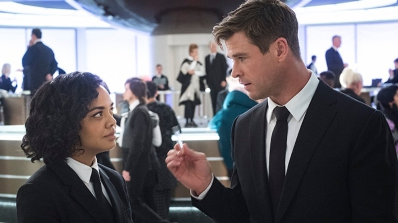 Chris Hemsworth and Tessa Thompson Can't Stop Giggling in Men in Black: International Press Tour Video