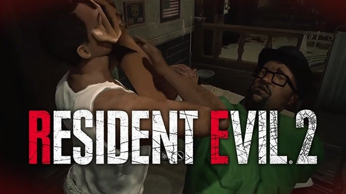 Resident Evil 2 GTA San Andreas CJ Big Smoke mod