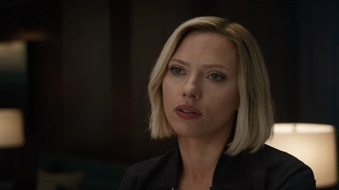 scarlett johansson black widow endgame