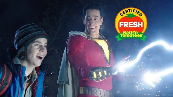 Shazam Movie Rotten Tomatoes Score