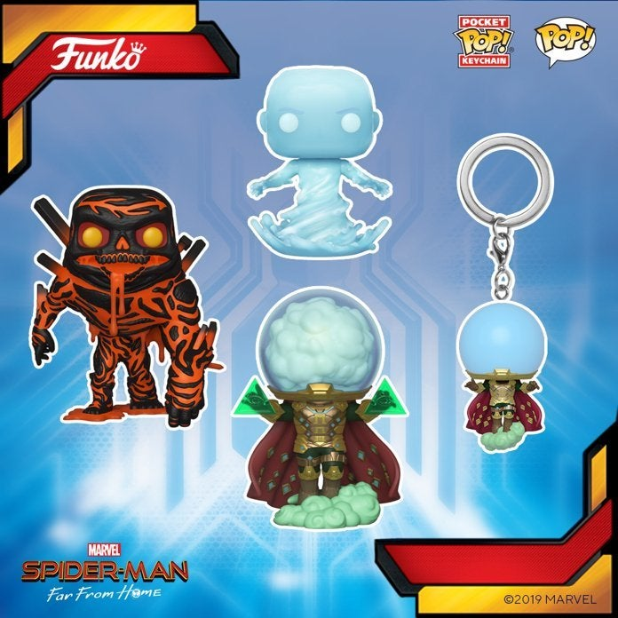 'Spider-Man: Far From Home' Funko Pops Reveal a Detailed Look at Mysterio, Hydro-Man, and Molten Man