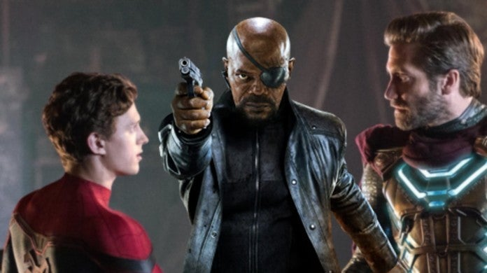 Spider-Man Far From Home Mysterio Nick Fury Shield Team Up Connection