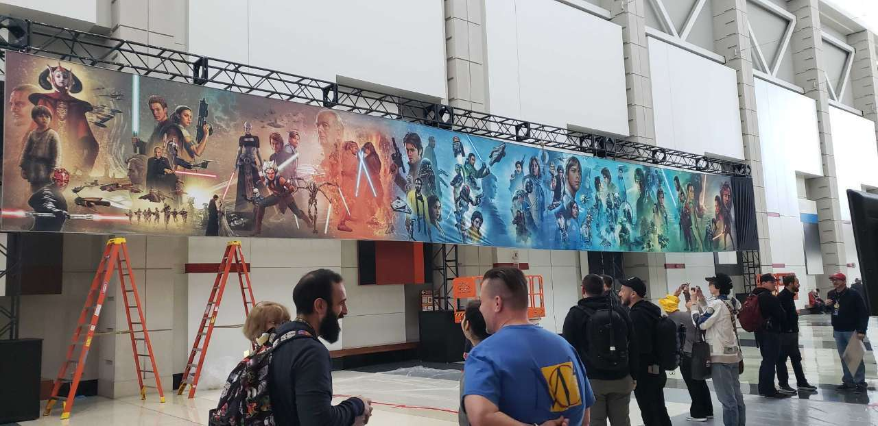 star wars celebration episode 9 mural