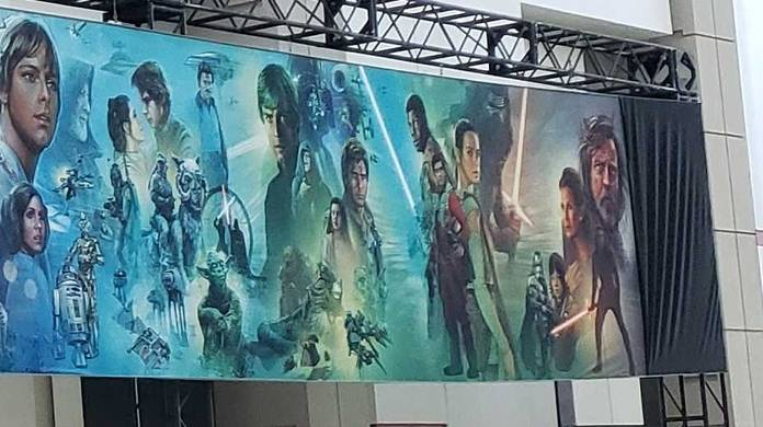 star wars episode 9 the rise of skywalker mural