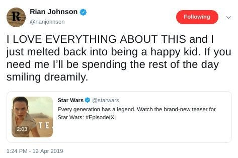 star wars rise of skywalker rian johnson