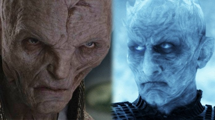 the last jedi night king supreme leader snoke