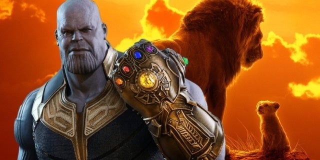 the lion king avengers infinity war thanos