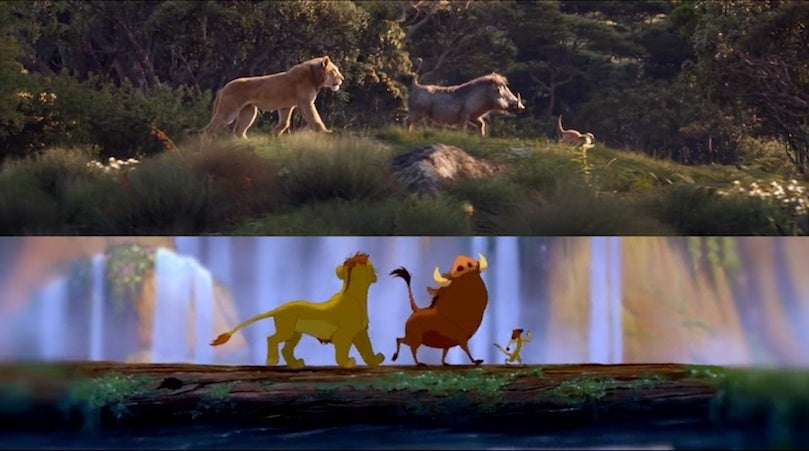 the lion king trailer side by side