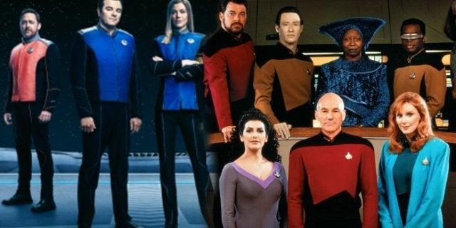 The Orville Star Trek TNG Jonathan Frakes Marina Sirtis