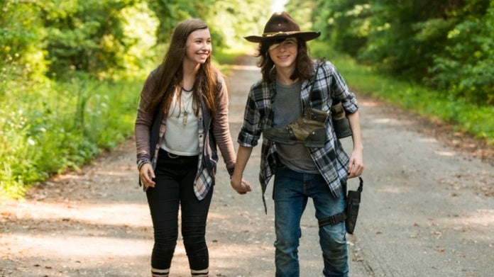 The Walking Dead Carl Enid