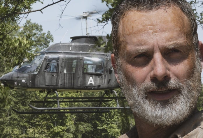 The Walking Dead Rick Grimes helicopter ComicBookcom