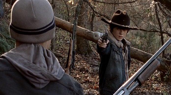 Walking Dead Carl Kills a Kid