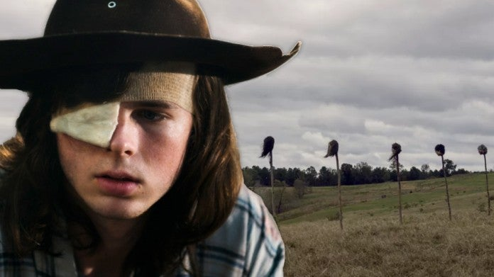 Walking Dead pikes Chandler Riggs