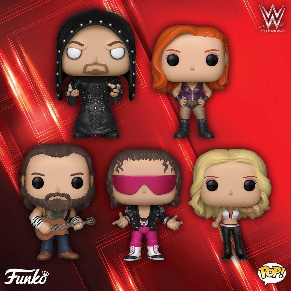 WWE-Funko-POPs-Becky-Lynch-Undertaker-Bret-Hart-Elias-Trish-Stratus