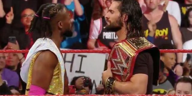 WWE-Raw-Kofi-Kingston-Seth-Rollins