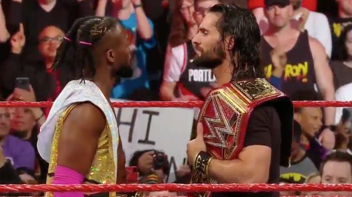 WWE-Raw-Kofi-Kingston-Seth-Rollins
