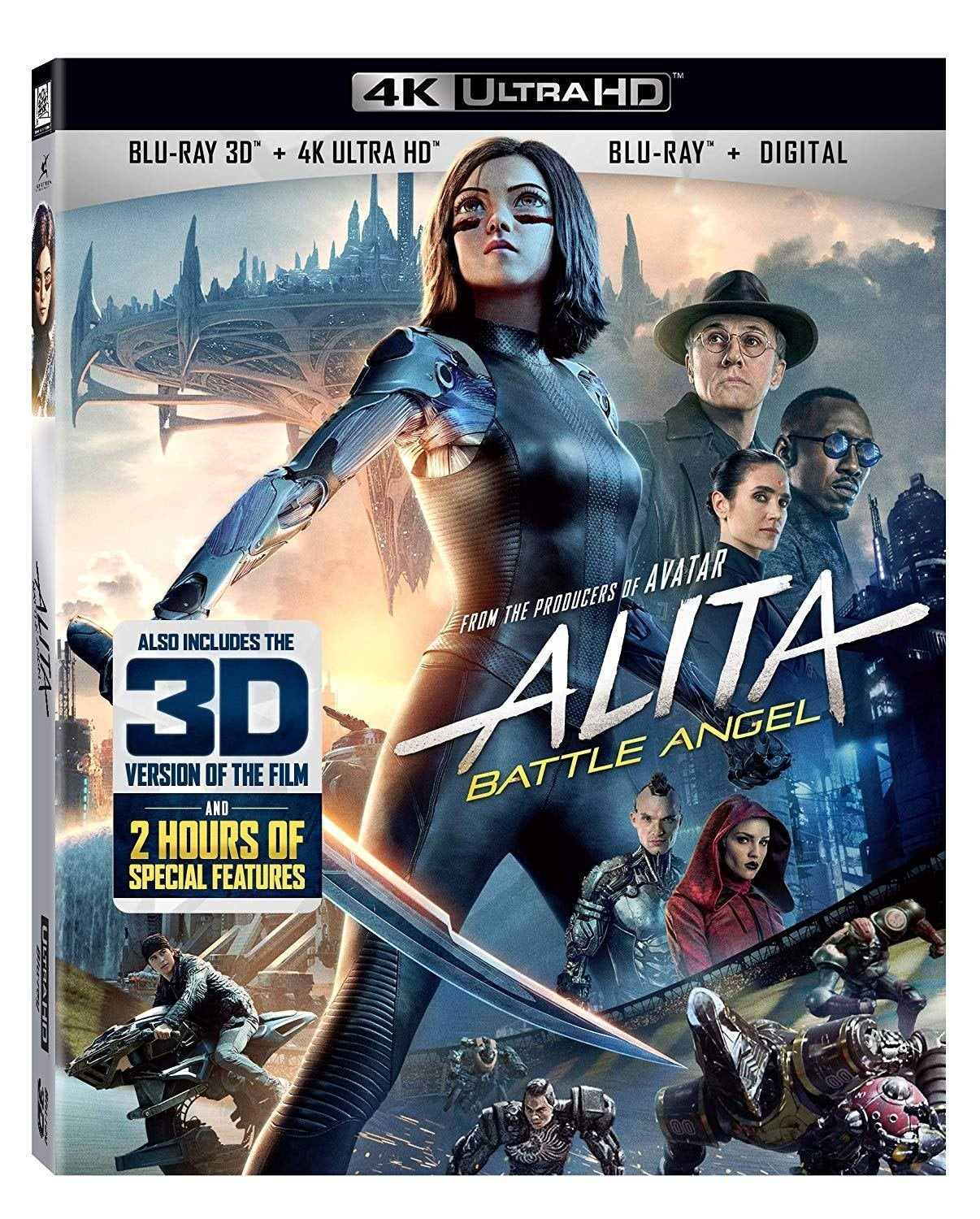 alita battle angel 4k ultra hd blu ray cover