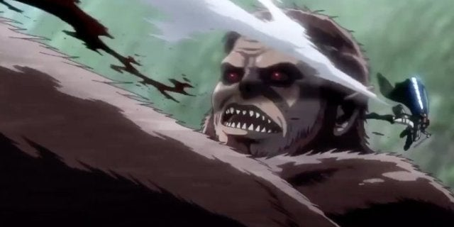 Attack on Titan Season 3 Levi vs Beast Titan
