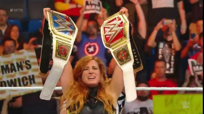 Becky-Lynch-two-titles