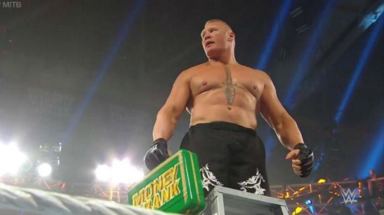 Brock Lesnar Wins Men's Money in the Bank Ladder Match