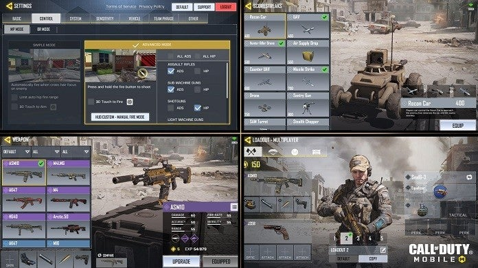 Call of Duty Mobile menu