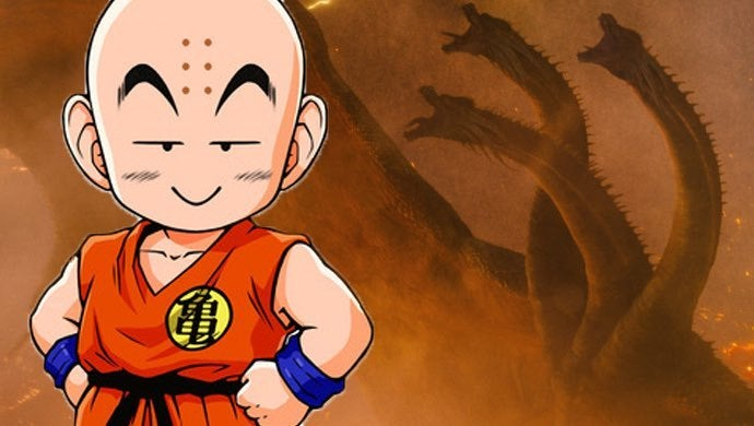 dragon ball krillin ghidorah