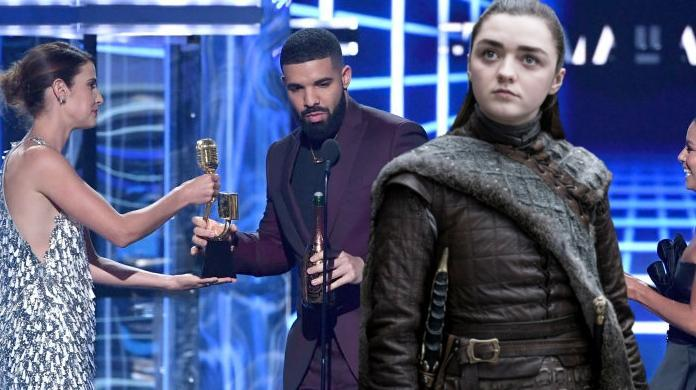 drake game of thrones arya stark shoutout billboard awards