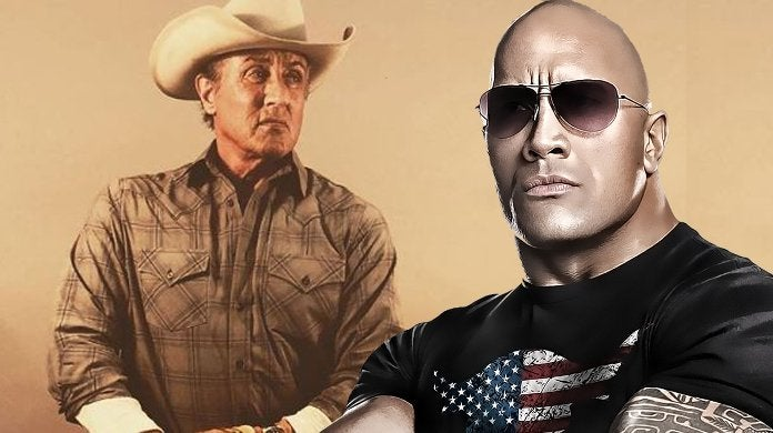Dwayne Johnson Reacts Rambo 5 Set Video Sylvester Stallone