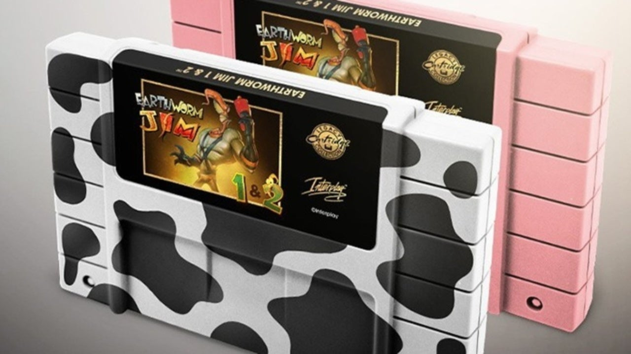 Earthworm Jim 1 and 2 25th Anniversary Cartridges Revealed by iam8bit