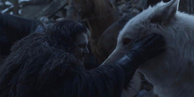 Game of Thrones Finale Jon and Ghost