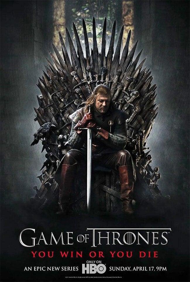 game of thrones season one poster sean bean ned stark