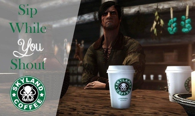 Game of Thrones Skyrim Starbucks
