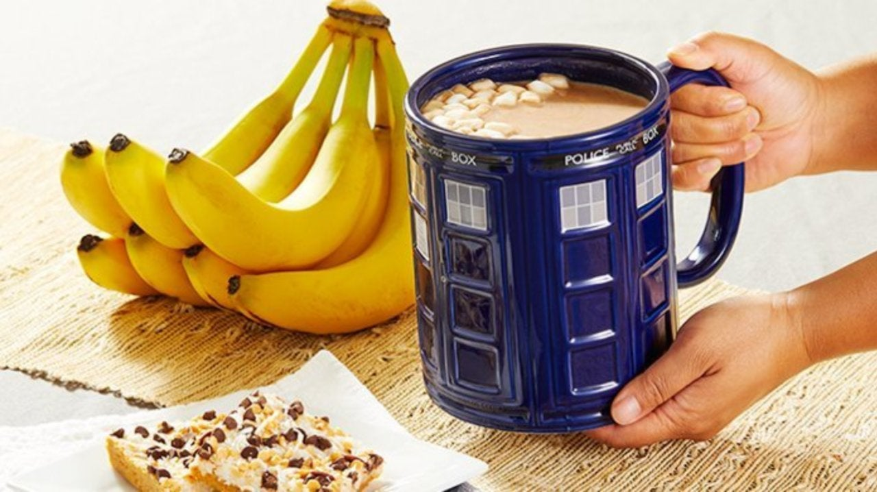 Giant Doctor Who TARDIS Coffee Mug Is Bigger On the Inside and the Outside
