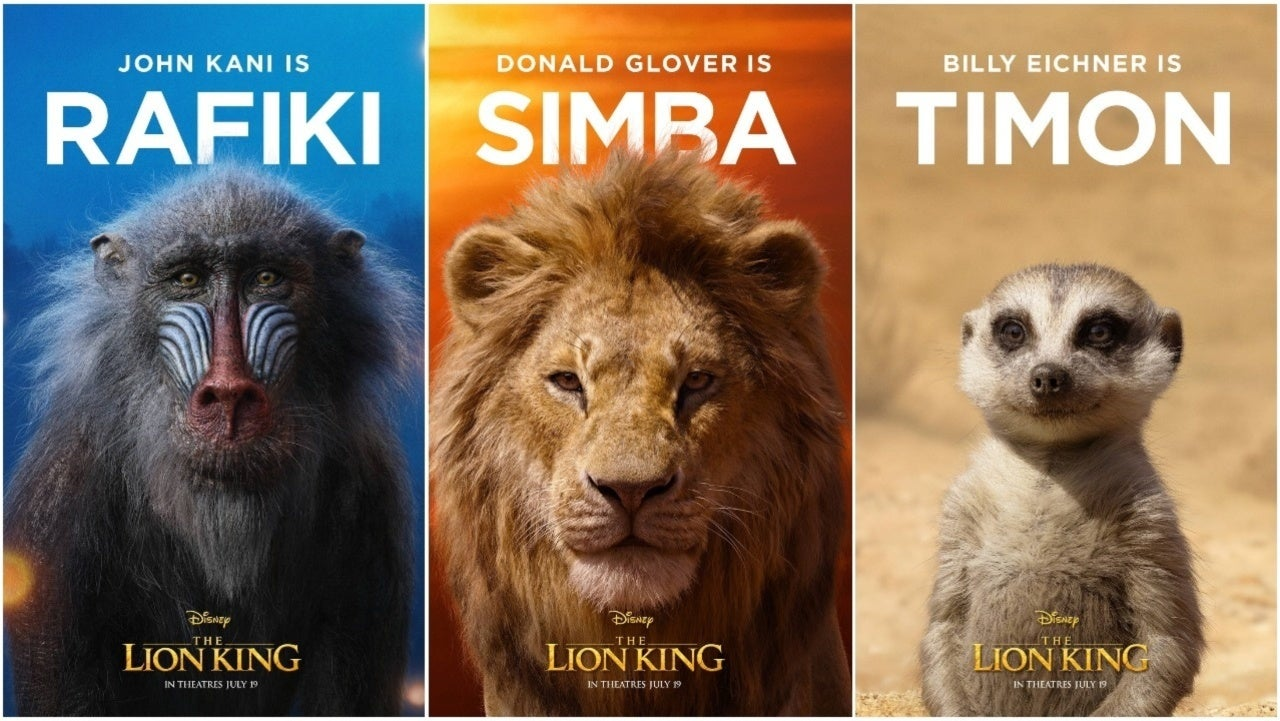 Disneys The Lion King Character Posters Released