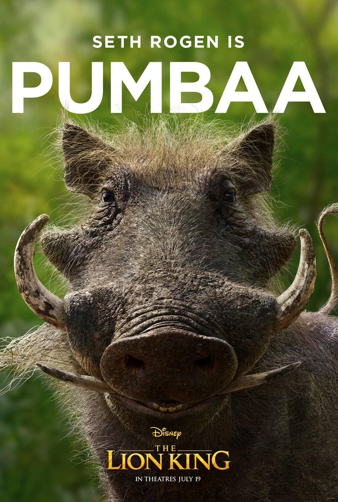 lion king poster Pumbaa