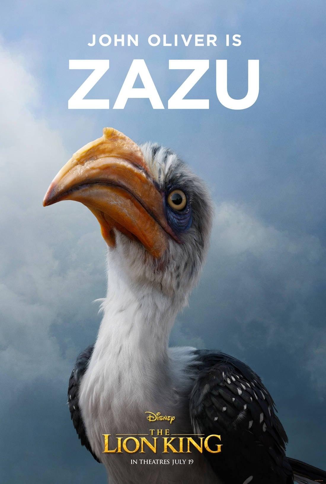 lion king poster Zazu