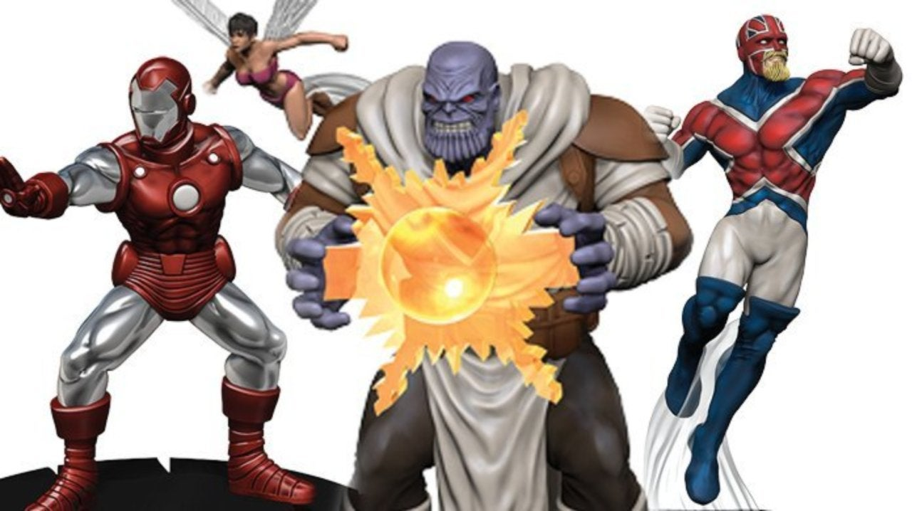 Marvel Avengers: Black Panther and the Illuminati HeroClix Preview: Thanos, Rescue, Captain Britain, Challenger, Ego Gem