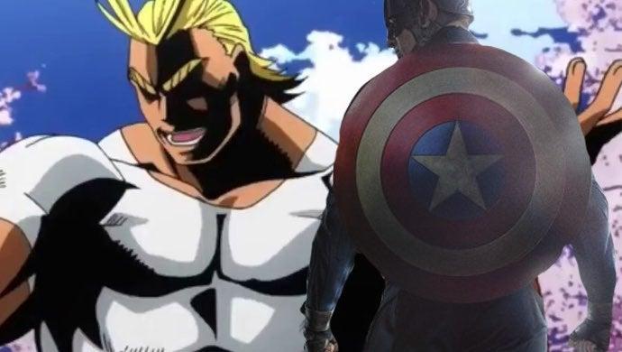 my hero academia captain america