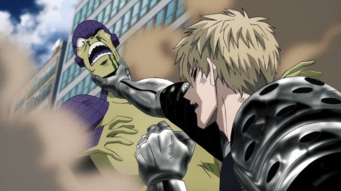 One Punch Man Episode 18 Genos Fight Scenes Monsters Awakened Cockroach