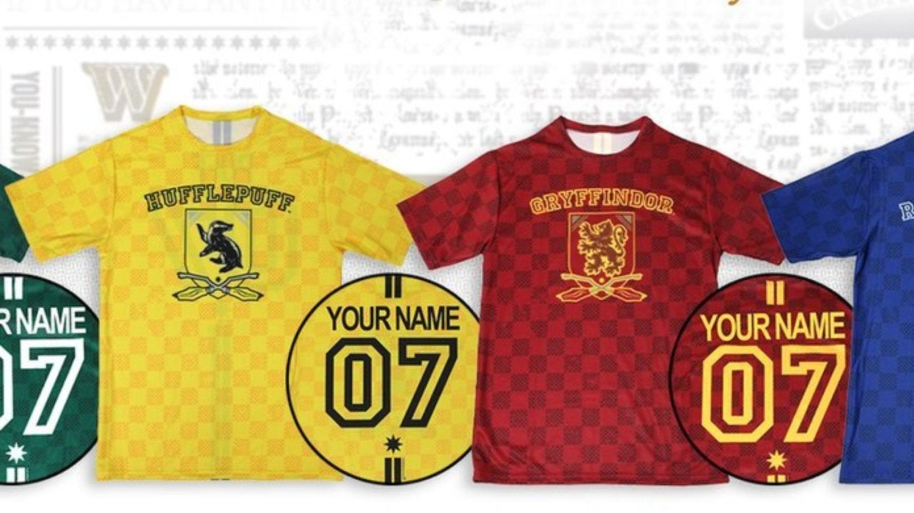 Personalized Harry Potter Quidditch Jerseys Are Back
