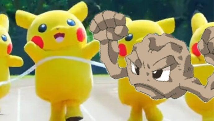 pokemon geodude pikachu mascot