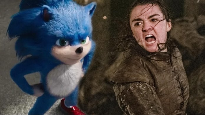 sonic movie arya stark game of thrones