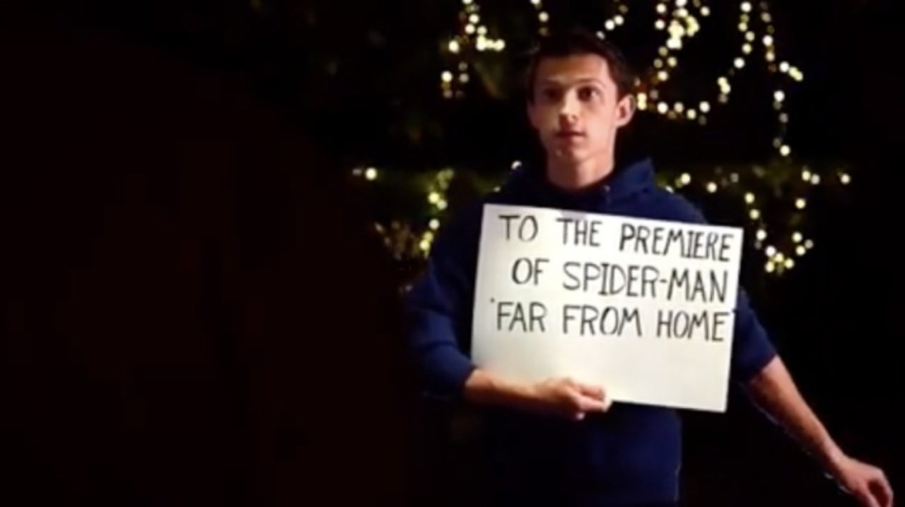 Spider-Man: Far From Home Star Tom Holland Shares Hilarious Love, Actually Parody for World Premiere Contest